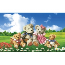 Набор для вышивания крестиком  7068-3D Семейка медвежат