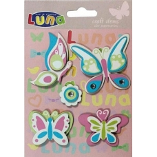 0620260 Бабочки стикеры 5 шт
