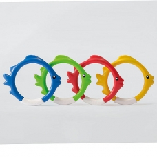 Подводные кольца для игры, от 6 лет, 4 цвета