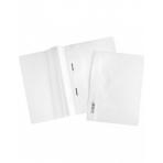 Папка -Скоросшиватель А4ф Hatber 120/160мкм Белая Пластиковая прозрачный верх с един.штрих-кодом