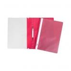 Папка -Скоросшиватель А4ф Hatber 120/160мкм Красная Пластиковая прозрачный верх с един.штрих-кодом