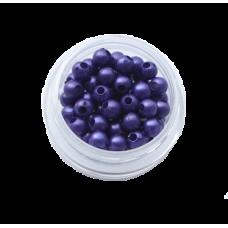 Бусины под жемчуг фиолетов 4мм(2гр)