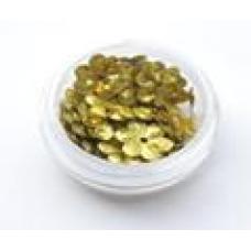 Пайетки цветик золото 10мм 2гр