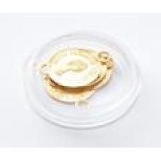 Монетки диаметр 14мм золото 4шт