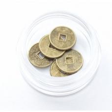 Монетки диаметр 10мм бронза 5шт