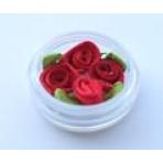 Роза 1-16№26 10х20мм красный 4шт