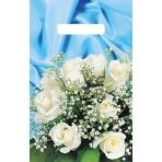 """Пакет полиэтиленовый вырубной """"Букет белых роз"""" (20*30 см) ВНР10570"""