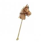Лошадка-скакалка с колесиками, вельвет, 95 см, звук галопа