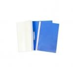 Папка -Скоросшиватель А4ф 100/120мкм Синяя Пластиковая прозрачный верх ASp_04602   Хатбер