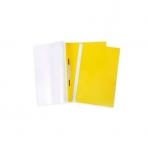 Папка -Скоросшиватель А4ф 100/120мкм Желтая Пластиковая прозрачный верх ASp_04605   Хатбер