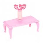 Журнальный столик с цветами розовый