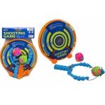 Рогатка с мячиками (20см) + щит, пластик, в сетке