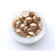 ПолуБусины под жемчуг золото 6мм (3гр)