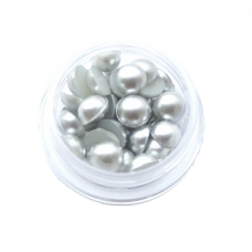 ПолуБусины под жемчуг серебро 6мм (3гр)