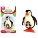 Заводная игрушка Пингвин с пингвиненком на блистер