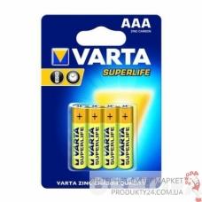 Батарейка VARTA SUPERLIFE AAA бл.4 (рус.)