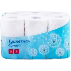 Бумага туалетная OfficeClean 2-слойная, 12шт., тиснение, белая 279672
