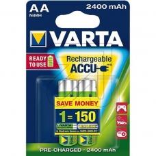Аккумуляторы VARTA AA  R2U 2400 мАч бл.2