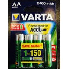 Аккумуляторы VARTA AA  R2U 2400 мАч бл.4