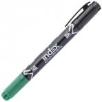 Маркер для доски, двуцветный, двусторонний, черно-зеленый