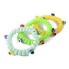 Резинки для волос ПРУЖИНКА с шариками цветные, еврохолдер, 5 шт. в упаковке