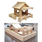 Конструктор «Усадьба-1» , 133 элемента, изготовлено из массива дерева.