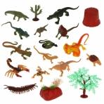 Набор рептилий и насекомых, 14 фигурок, 4 аксессуара, пакет