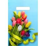 Пакет вырубной Тюльпаны на голубом (30*20 см.) н00157467
