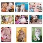 Календарь карманный  70х100мм ламинация на 2019г серия -Котята-